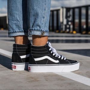 Women Platform Vans Sk8 Hi on Poshmark